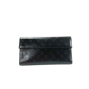 Brooks brothers women's wallet black leather